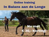 Paard longeren, in balans aan de longe