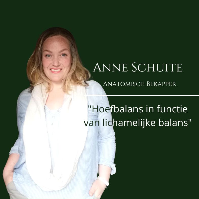 Anne Schuite, hoeven revalidatie