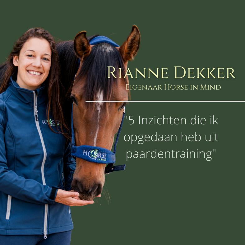 Rianne Dekker, seminar paardentraining