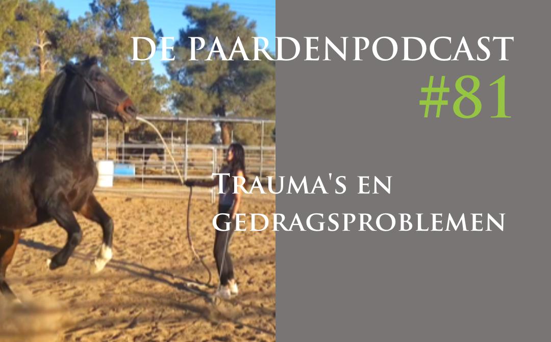 #81 Trauma's en gedragsproblemen bij paarden – Zoë van Mourik